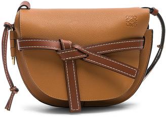 Loewe Gate Small Bag in Light Caramel & Pecan Color | FWRD