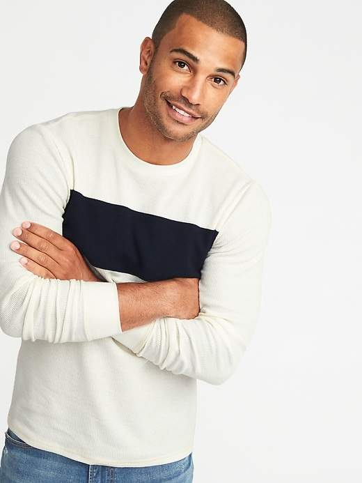 Old Navy Soft-Washed Thermal Crew-Neck Tee for Men