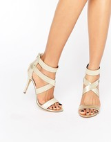 Steve Madden Paryss Cross Strap Heeled Sandals
