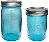 Ball Heritage Collection Wide Mouth Mason Jars in Blue (Set of 4)