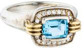 Lagos Bi-Color Diamond & Blue Topaz Cocktail Ring