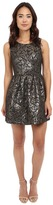 BB Dakota Cooper Metallic Brocade Pleated Dress
