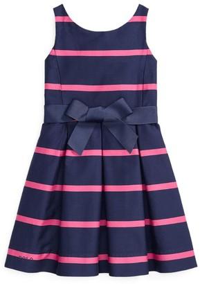 Ralph Lauren Kids Striped A-Line Dress (5-7 Years)