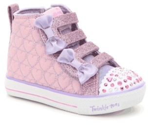 Skechers Twinkle Toes S Lights Shuffle Lite Quilted Beauties Light-Up Sneaker - Kids'