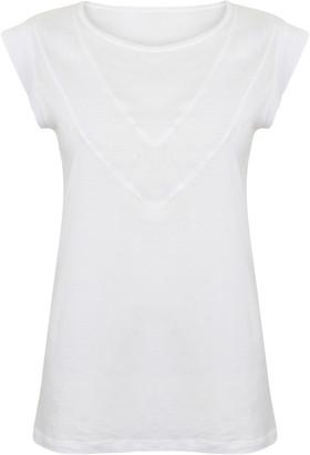 Beaumont Organic Annabelle Cotton Linen Top - S - White