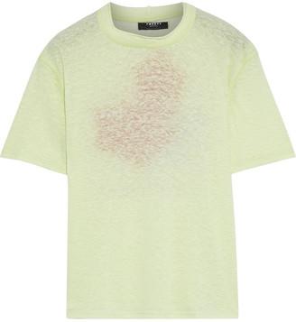 Twenty Montreal Printed Slub Linen-blend Jersey T-shirt