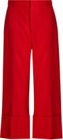 Sea High-rise wide-leg wool trousers