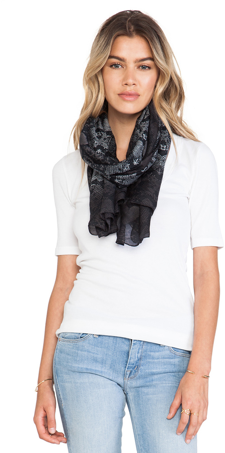 Marc by Marc Jacobs Heart Snake Print Scarf
