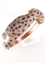 Effy Jewelry Signature Rose Gold Diamond & Emerald Bangle, 7.51 TCW