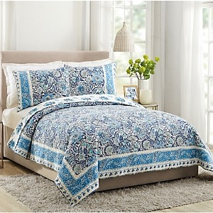Dena Home Bisou Floral Cotton Quilt Set, Full/Queen