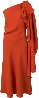 Esteban Cortazar One Shoulder Dress