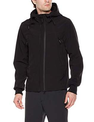 Royal Matrix Men's Water-Resistant Fleece-Lined Softshell Jacket Outerwear with Adjustable Front Zipper for Autumn( XL)