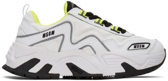 MSGM White Chunky Sneakers