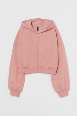 H&M Short Hooded Sweatshirt Jacket - Pink