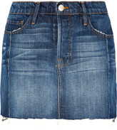 Frame Mini Mix Denim Skirt - Mid denim