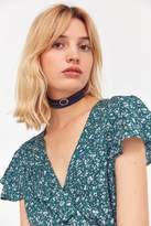 Urban Outfitters Buckled Faux Leather Wrap Choker Necklace