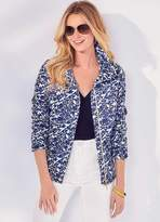 Kaleidoscope Biker Style Print Jacket