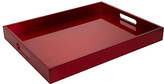 John Lewis Rectangular Lacquered Tray, Red