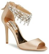 Badgley Mischka Denise Latte Leather Stiletto Sandals