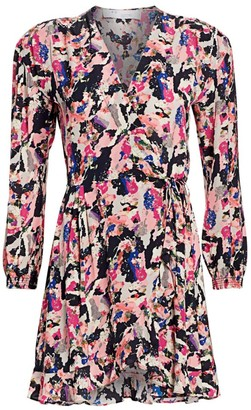 IRO Bloomy Printed Wrap Dress