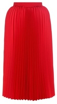 Balenciaga Pleated Twill Midi Skirt