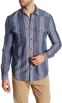 Threads 4 Thought Long Sleeve Regular Fit Striped Snap Shirt