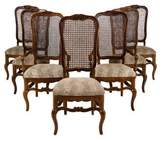 Chair Set of Seven 20th-Century Upholstered Dining Chairs