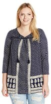 Lucky Brand Women's Plus-Size Ditzy Flower Top