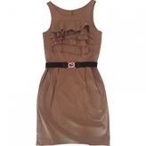 BCBGMAXAZRIA Beige Cotton Dress