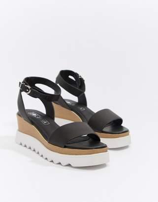 Sol Sana leather flatform sandals-Black