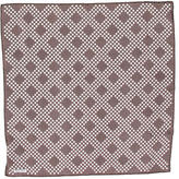 Tom Ford Diamond Print Silk Pocket Square
