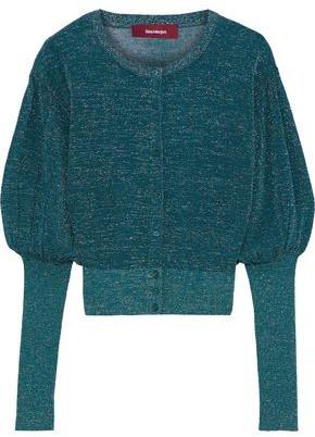 Sies Marjan Luciana Gathered Metallic Knitted Cardigan