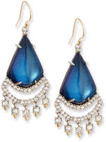 Alexis Bittar Crystal Lace Chandelier Earrings, Blue Velvet