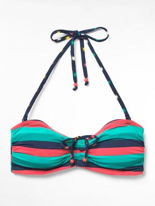 White Stuff Multi Stripe Drawstring Bikini Top