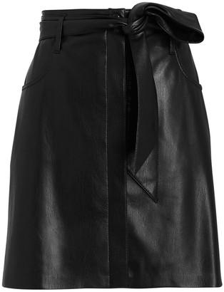 Nanushka Meda Vegan Leather Mini Skirt