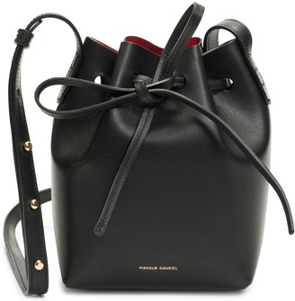 Mansur Gavriel Black Mini Mini Bucket Bag - Flamma
