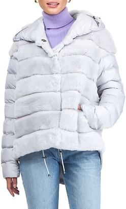Gorski Horizontal Rex Rabbit Fur Jacket