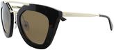 Prada Brown & Gold Cat-Eye Sunglasses