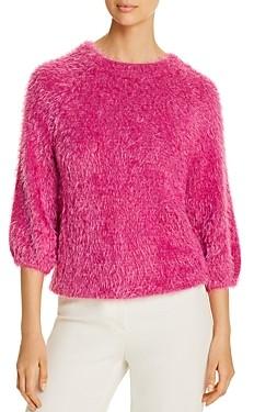 Nic+Zoe Metallic Fuzzy Sweater