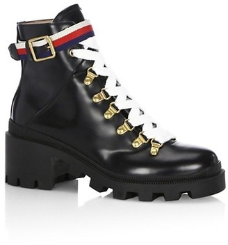 Gucci Magnum Leather Moto Boots