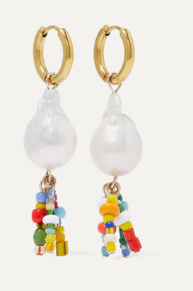 Eliou Lucca Gold-plated, Pearl And Bead Earrings