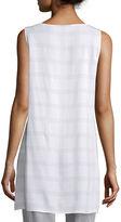 Eileen Fisher Sleeveless Plaid Silk Tunic, Ash