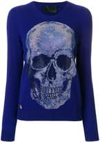 Philipp Plein skull embellished jumper