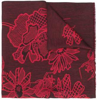Paul Smith floral pattern two tone scarf