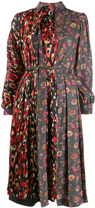 Junya Watanabe Printed Silk Dress