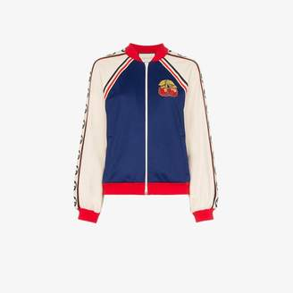 Gucci Cherry patch bomber jacket