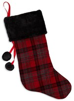 Bloomingdale's Plaid Christmas Stocking