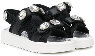 Andrea Montelpare TEEN embellished touch strap sandals