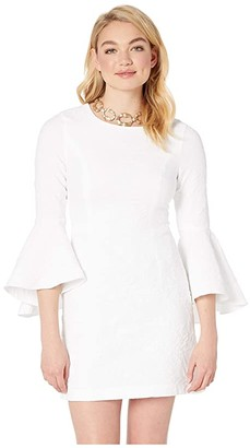 Lilly Pulitzer Kayla Stretch Dress (Resort White Caliente Pucker Jacquard) Women's Clothing
