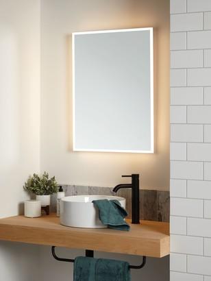 John Lewis & Partners Aura Wall Mounted Illuminated Bathroom Mirror, Large